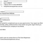Customer Email Helen