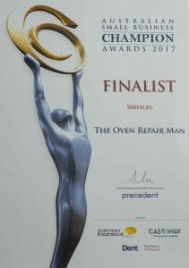 Oven Repair Melbourne Award